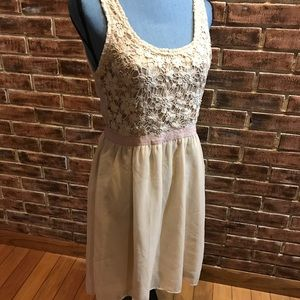 American Eagle Outfitters Size Small Dress Beige